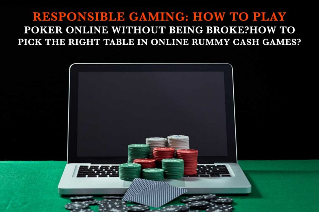 How To Play Poker Online Without Being Broke